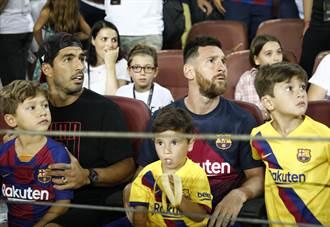 影》梅西看球 3歲小兒子賣萌吸睛