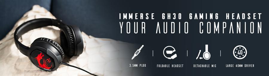 msi「GH30電競耳機」。(msi提供)