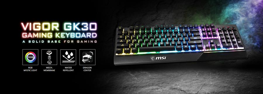msi「GK30電競鍵盤」。(msi提供)