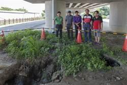 雨水掏空地基恐危及橋墩安全 民代要求改善排水