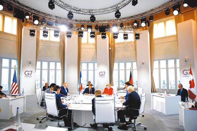 8月26日G7峰會上,各國領導人表示支持在1984年《中英聯合聲明》中規定的香港自治權。(取自Justin Trudeau推特)