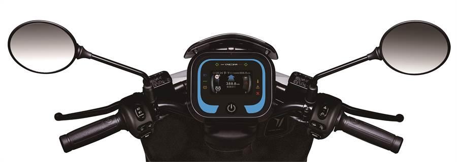 Ai-1 Sport搭載次世代CROXERA儀表系統,提供業界首創「一鍵導航到換電站」功能,讓智慧騎乘更聰明!(圖/宏佳騰提供)