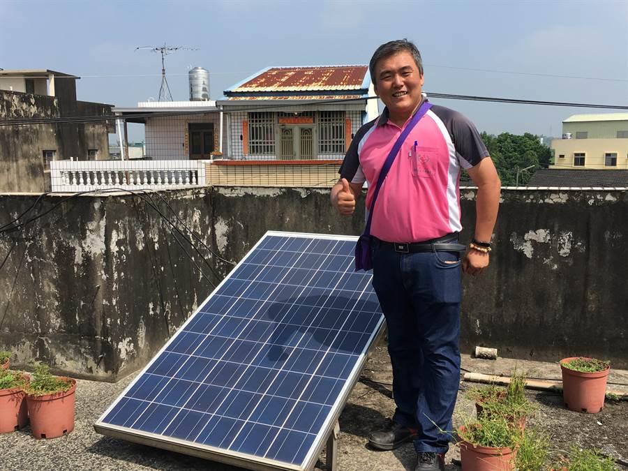 明華社區發展協會發展太陽能多年,今年更成立公民電廠生產合作社。(張亦惠攝)
