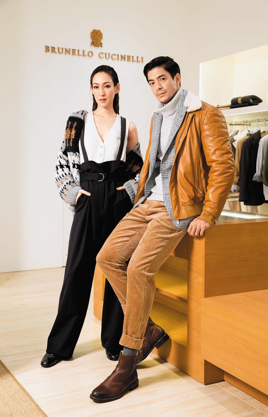 Brunello Cucinelli發表秋冬新裝,從細節展現品牌玩布和紡織工藝的功力。(Brunello Cucinelli提供)