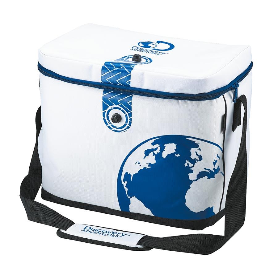 全聯Discovery軟式保溫保冷桶(白)可摺疊易收納,市價1280元,扣500福利點+389元或100福利點+499元約3.1折起換購。(全聯提供)
