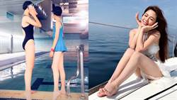 白家綺13歲女兒曝光!姊妹曬泳衣比大長腿