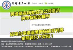 台電配合蔡政府反核 竟下架核能月刊