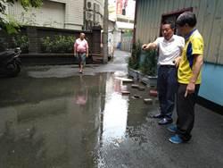 議員說到做到 挖溝救水患