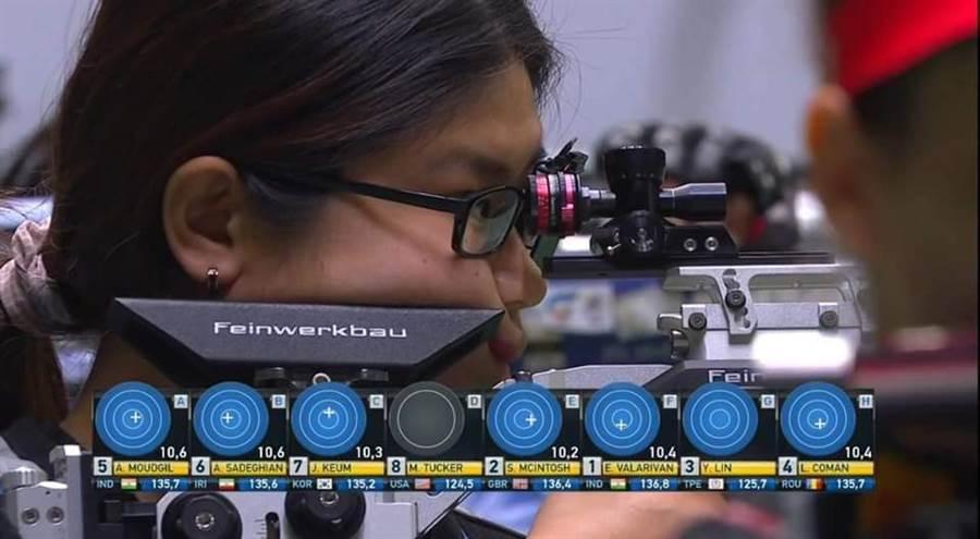 射擊女將林穎欣在10公尺空氣步槍拿到東奧門票。(取自中華奧會臉書)