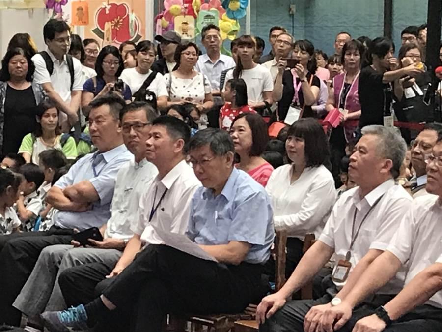 高雄市長韓國瑜妻子在雲林古坑的農舍被爆出違建,但李宣布已經在8月上旬以買賣方式轉移、變更所有權。台北市長柯文哲今表示,單純就選舉舉戰略來看,這是戰略錯誤。(張潼攝)