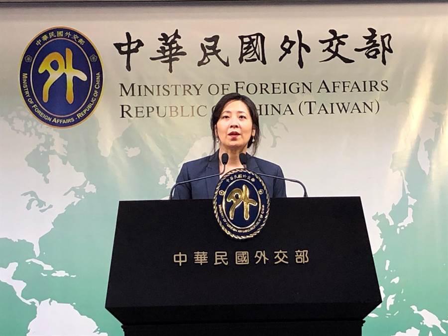 外交部發言人歐江安上午接受媒體訪問。(趙婉淳攝)