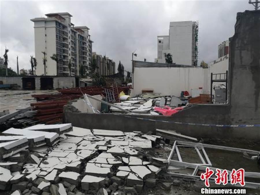海南儋州今天突發龍捲風。(照片取自中新網)