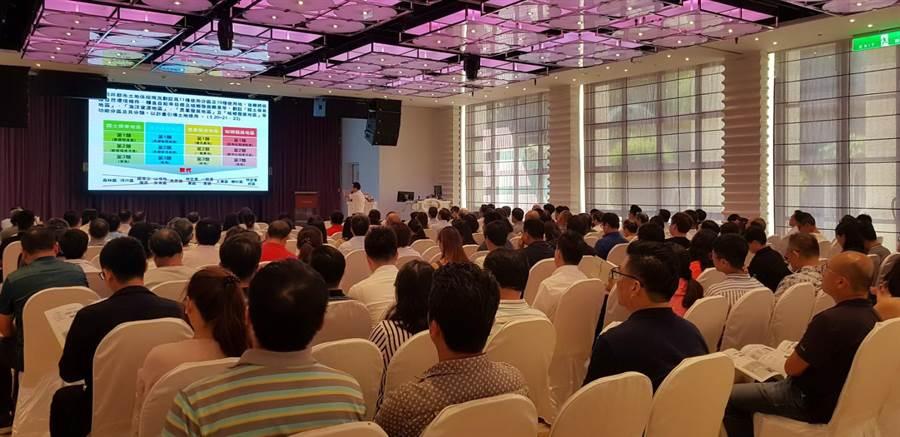 台中市大台中不動產開發商業同業公會舉辦「國土計畫法對於不動產與土地開發之影響座談會」。(盧金足翻攝)