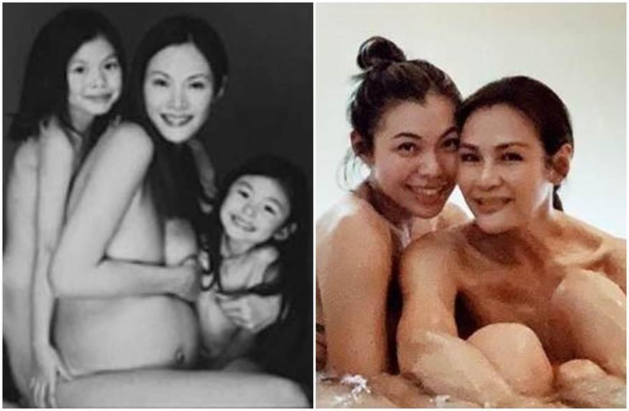 馬詩慧歡慶生日,兩女兒貼出「裸照」慶生。﹝圖/IG)
