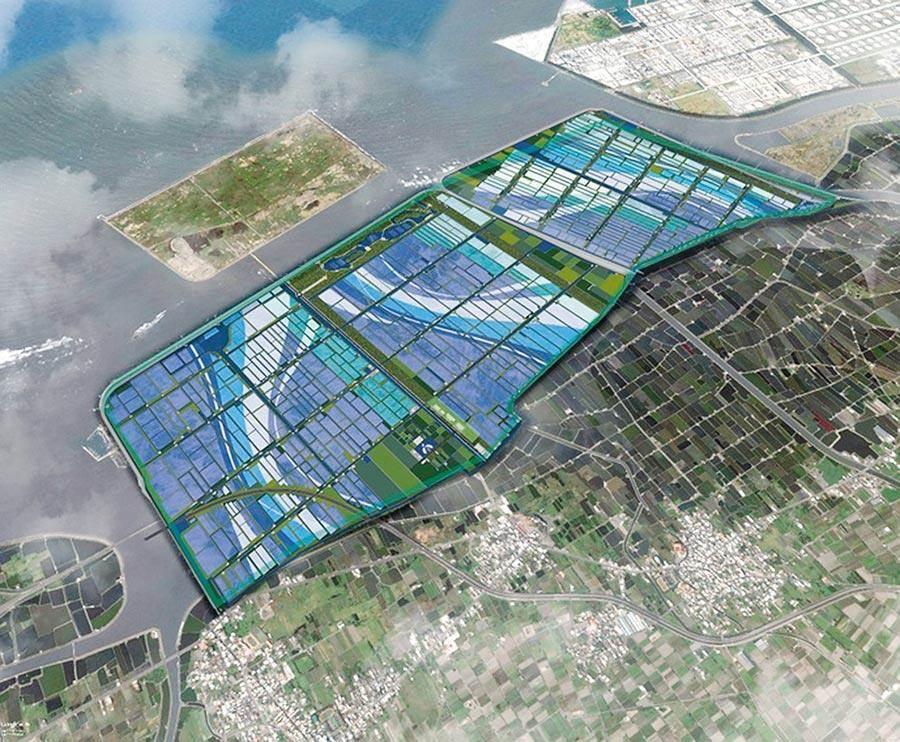 圖為雲林縣府去年規畫轉型為綠能專區的示意圖。(中時報系資料照片)