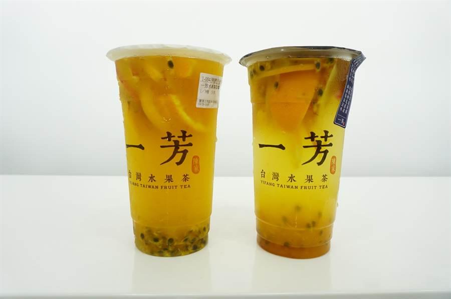 水果茶为墨力国际旗下「一芳」的招牌饮品。(王文吉摄)
