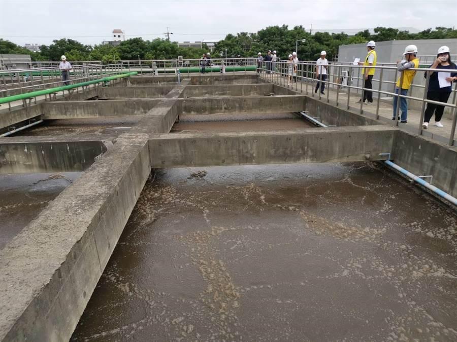 竹南頭份水資源回收中心第2期工程即將在9月完工。〔謝明俊攝〕
