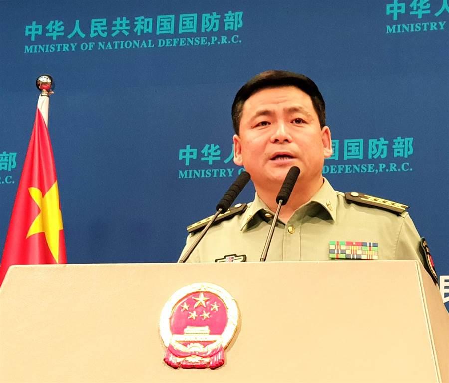 中國國防部新聞發言人任國強大校。(藍孝威攝)