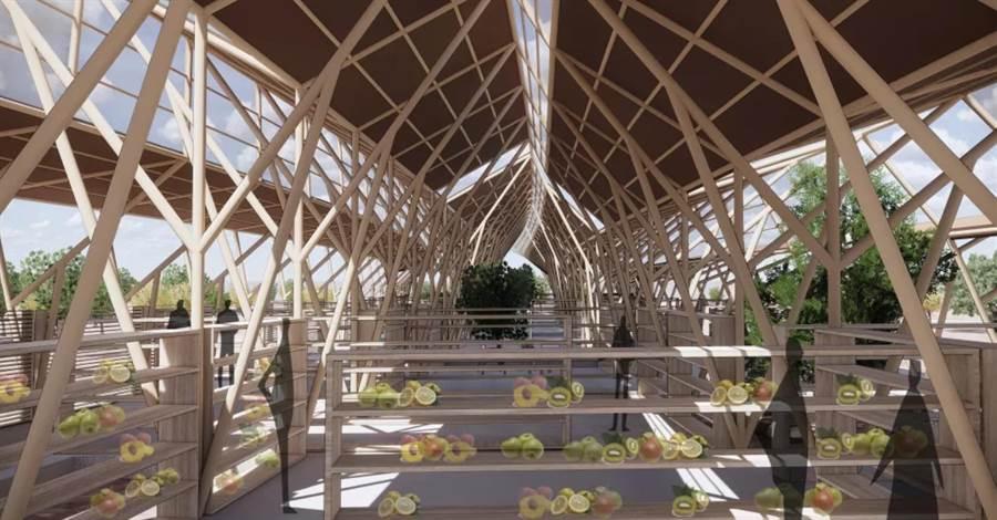 華夏科技大學師生與大陸安徽建築大學師生合作組隊,參加「2019UIA-CBC國際高校建築大賽」榮獲15強佳績。(葉書宏翻攝)