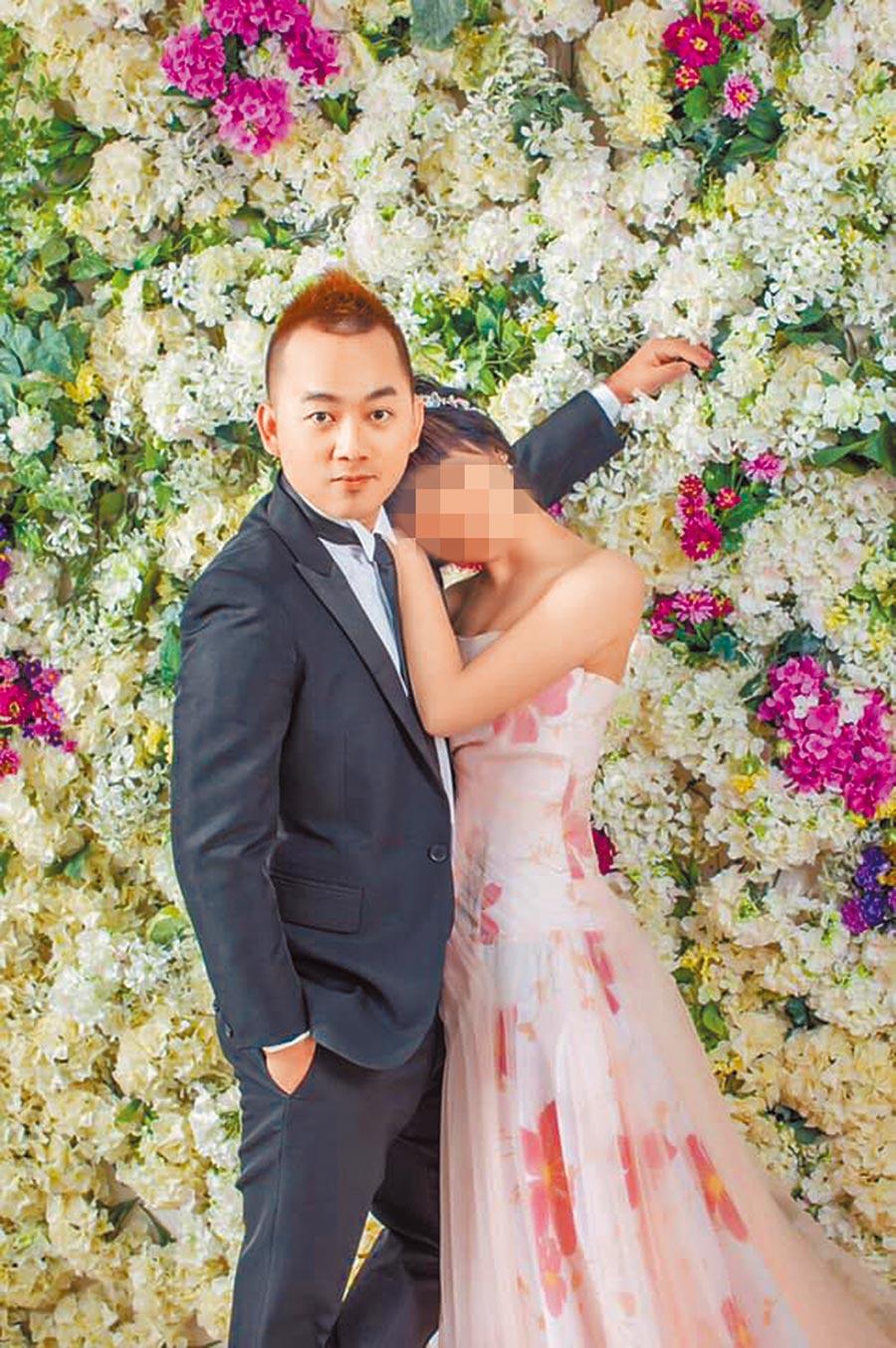 薛姓員警與女友才剛開心拍完甜蜜婚紗照。(翻攝薛員女友臉書)