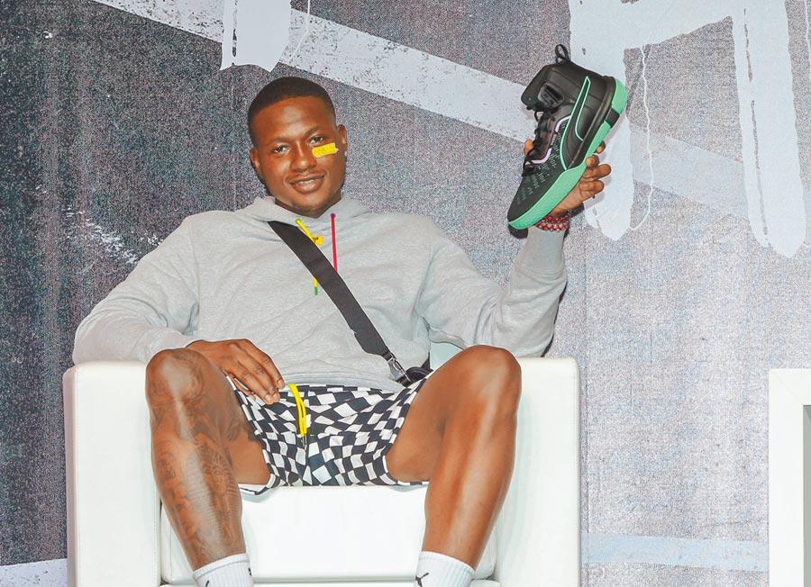 NBA旗下新生代頂尖控衛球星Terry Rozie,來台為PUMA籃球鞋宣傳。(盧禕祺攝)