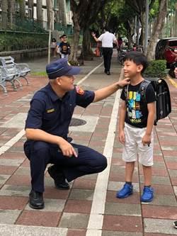 開學日  北市警方在各國小進行護童專案