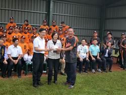 蔡總統補助3千萬 修繕西苑高中棒球隊練習場