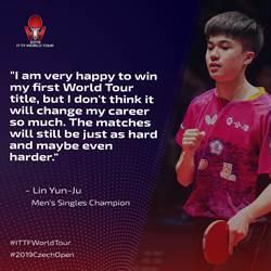 桌球》林昀儒世界排名第十 創生涯最佳
