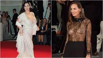 女星「露點、爆乳」樣樣來!威尼斯影展V到肚臍胸部大到掉出來