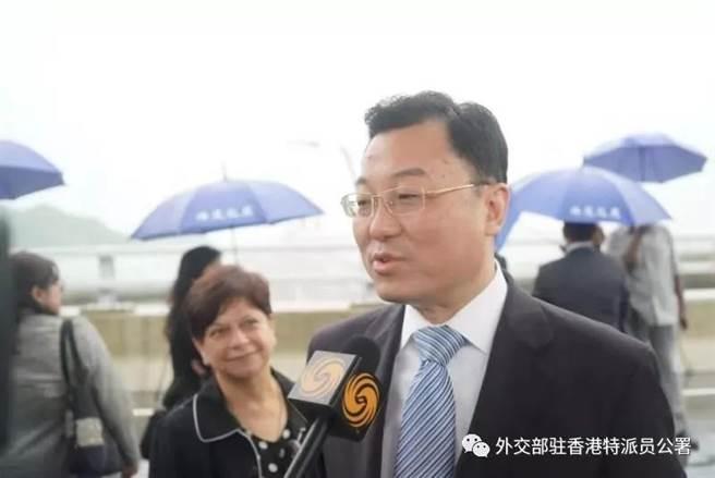 大陸外交部駐港公署特派員謝鋒。(摘自大陸外交部駐香港特派員公署微信公眾號)