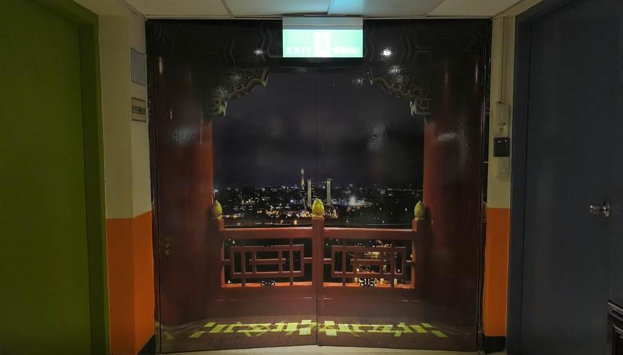 圓山大飯店密道入口處。(照片/陳威成 拍攝)