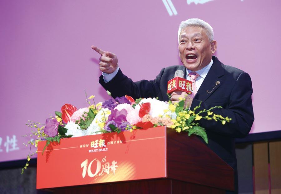蔡衍明表示,公司的口號是「真道理性、真愛台灣」,以真實的心來講真話。圖/陳信翰