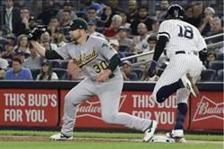 MLB》運動家復仇 洋基又折兩戰將