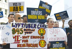 不願司機變正式員工 優步、Lyft推加州公投
