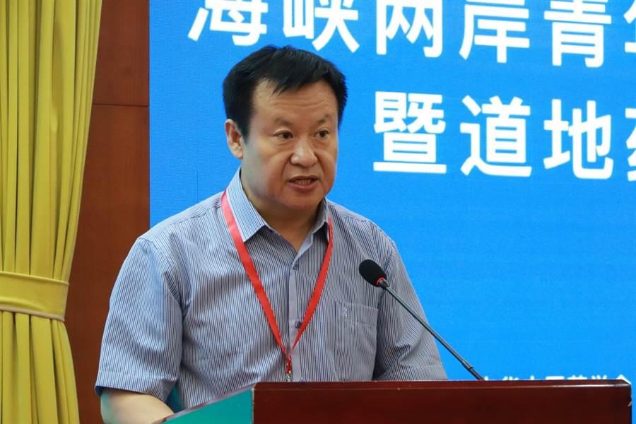 雲南省人民政府台灣辦公室崔冰成副主任在論壇上致辭(圖片來源:大會組委會)