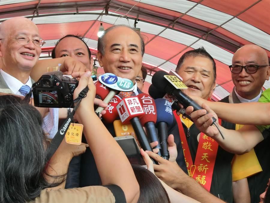 前立法院長王金平説,只要為中華民國好、為台灣好、為人民好,怎麼樣都沒有關係,「上天總會安排一條路出來嘛!」(盧金足攝)