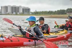 陸21選手挑戰划艇橫度瓊州海峽