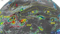2低壓不排除接力生成颱風 專家曝這天接近台灣