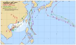 3準颱風各國路徑曝光 氣象局:這顆最危險