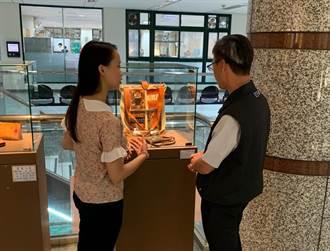 結合在地文化 區公所化身鶯歌工商膠彩紙雕皮革藝展