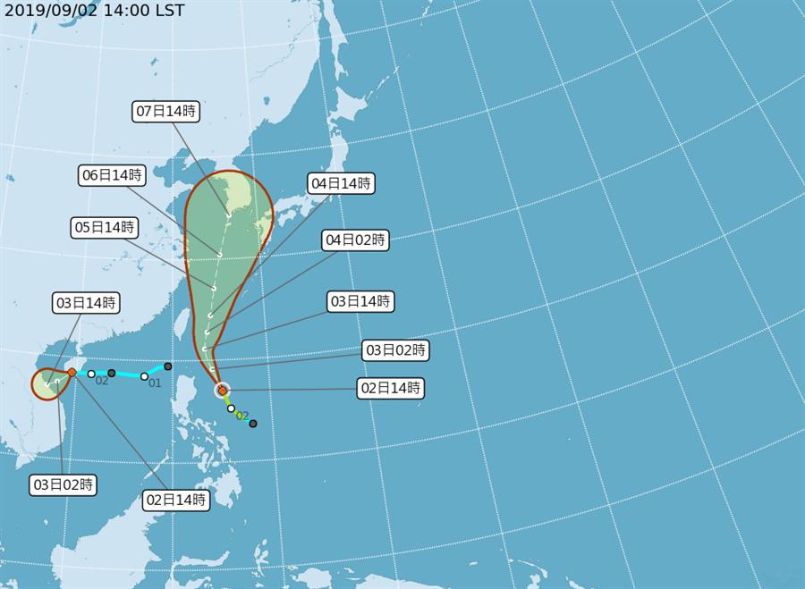 玲玲颱風最快明晚影響台灣。(翻攝自中央氣象局/林良齊台北傳真)