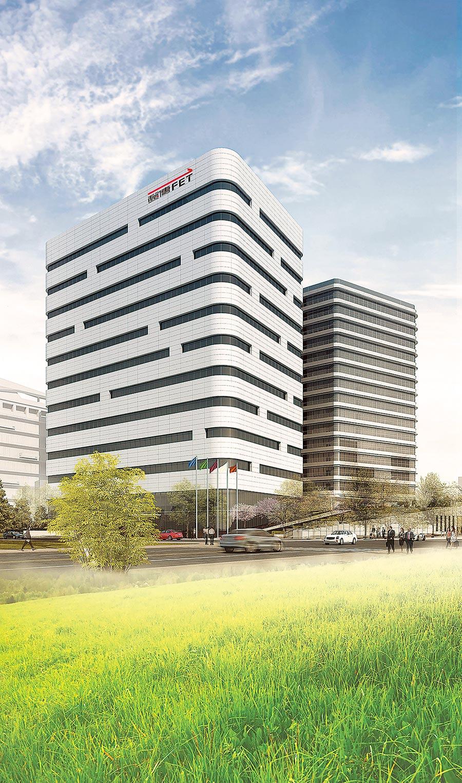 TPKC遠傳雲端運算中心獲第三屆台灣優良智慧綠建築設計類鉑金獎。(遠傳提供)
