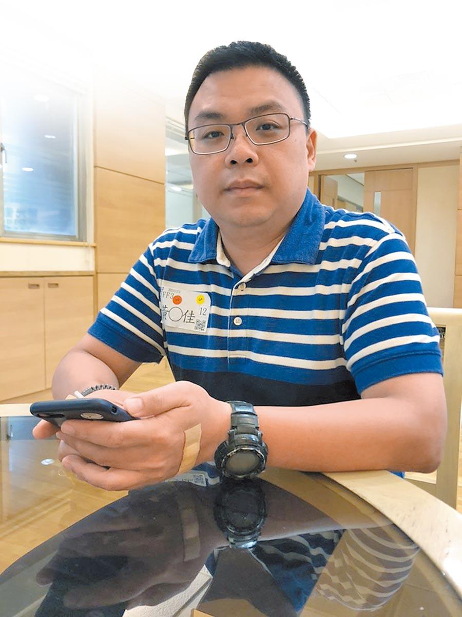 黃傳佳為廈門人,是第二次來到新光醫院健檢。(記者李鋅銅攝)