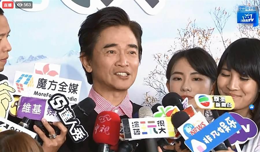 吳宗憲今出席活動談入圍金鐘心得。(圖/翻攝自中時電子報臉書)