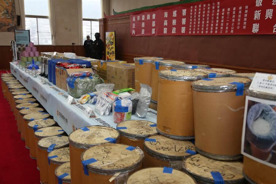 海巡署今年已查獲各式毒品8公噸,成效卓著。(海巡署提供)
