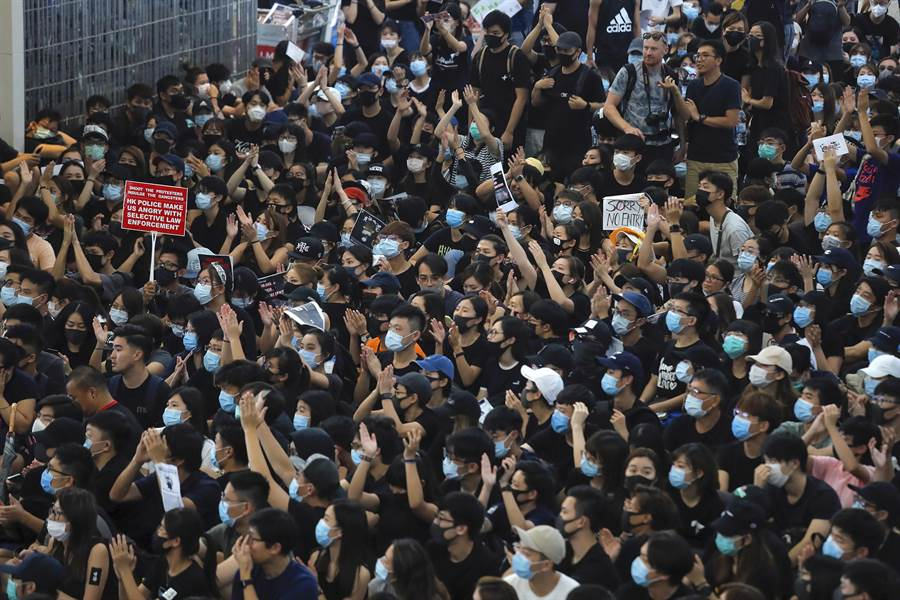 香港返送中示威抗議已持續3個月之久。(圖/美聯社)