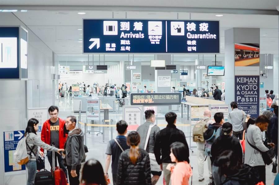 日本關西機場(圖/Shutterstock)。