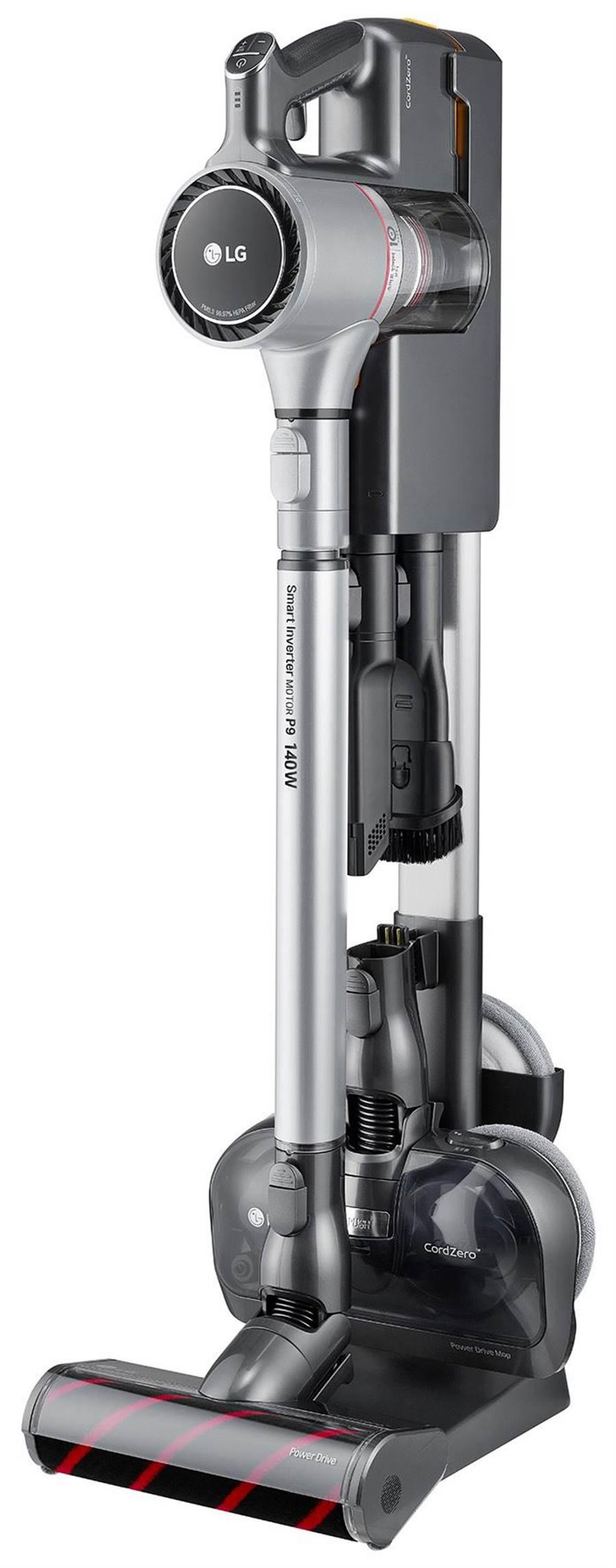 全國電子的LG CordZero A9+ 濕拖無線吸塵器,原價2萬4900元,現省4000元,特價2萬900元,買就送鋰電池及千元全國電子現金折價券。(全國電子提供)