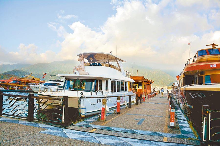 少了陸客,日月潭水社碼頭蕭瑟。(本報系資料照片)