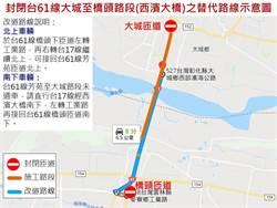 臺61線大城至麥寮路段9月5日至7日 施行交通管制